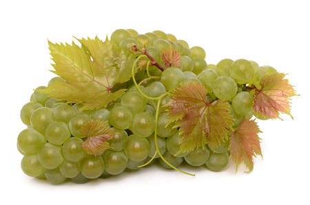 climbing frames: Juicy grapes isolated on a white background