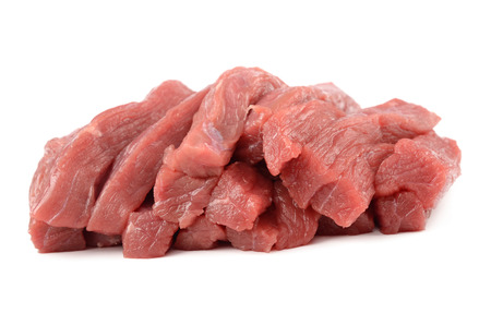 veal: Fresh veal isolated on a white background Stock Photo