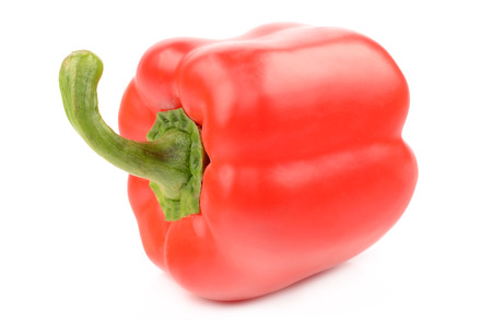 Red pepper on white background