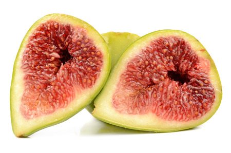 isolated juicy fresh figs on a white background