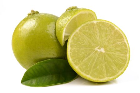 Juicy lime isolated on a white background