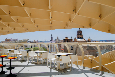 Metropol Parasol, Seville, Spain.Summer travel in Spain