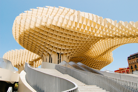 Metropol Parasol, Seville, Spain.Summer travel in Spain