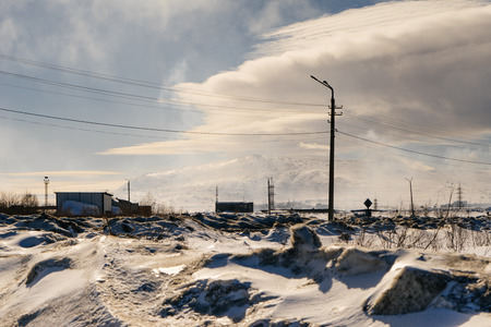 snow-capped outskirts of the working northern city