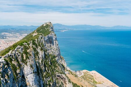 Gibraltar magnificent landscape. overlooking cliff ocean view
