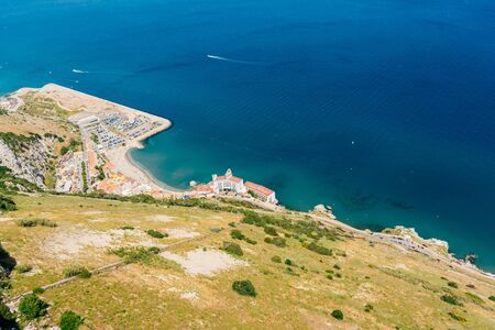 pizazh. top view of the sea bay
