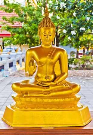 holy buddha in thai temples.