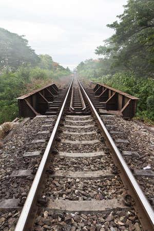 Railroad tracks at sunset. Stock Photo - 10016103