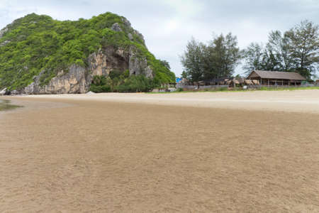 Beach and the mountains in thailand. Stock Photo