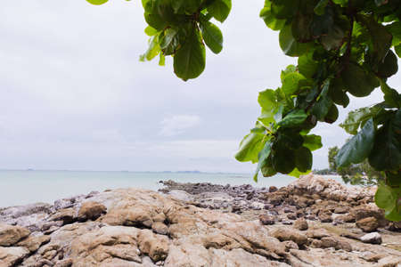 Beaches, rocky areas. The sea east of Thailand.