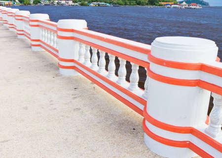 Bridge pier at the seaside.