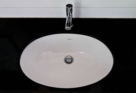ensuite: Sinks in the bathroom men a clean and hygienic.