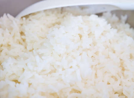 Thai rice in a pot and eat while hot. Stock Photo