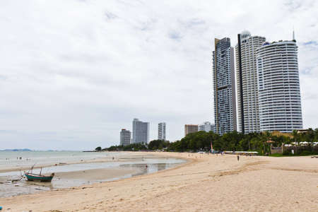 Modern hotel, apartment beside the beach.