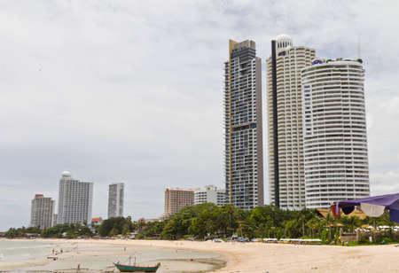 Modern hotel, apartment beside the beach. Editorial