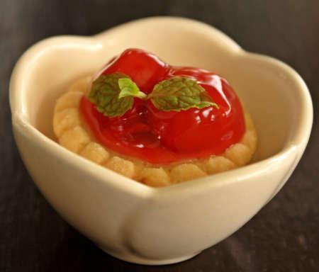 mince pie: Piece of cherry pie Stock Photo