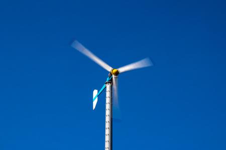 Triple Blade Wind Turbine Stock Photo