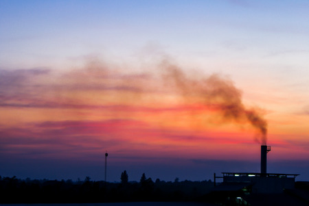 Smoke of Biomass Power Plant photo