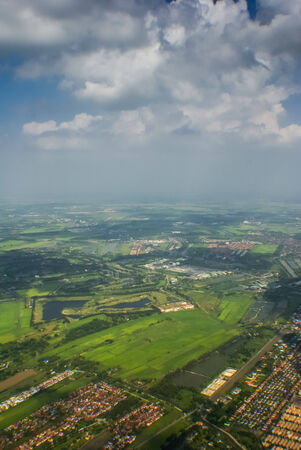arial: Arial View above Land