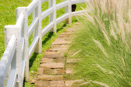 greengrass: Footpath with white palisade