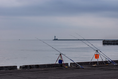 Fishing at Otaru Shipyard photo