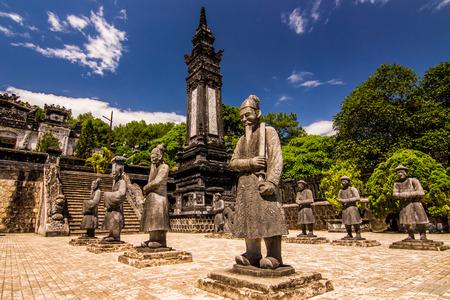 hue: Tomb of Khai dinh hue vietnam Stock Photo