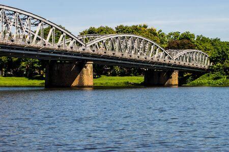 Trang Tien Bridge Stock Photo