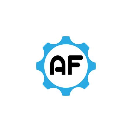 Initial Letter Logo AF Template Vector Design