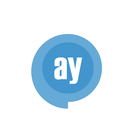 Initial Letter Logo AY Template Vector Design Illustration
