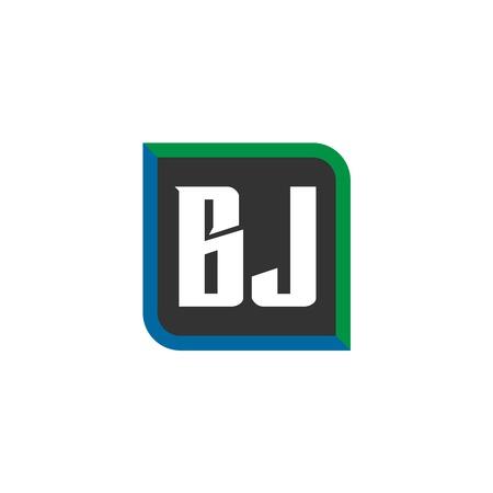 Initial Letter Logo BJ Template Design