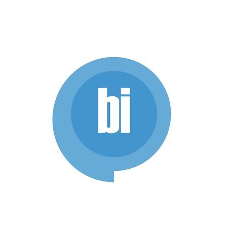 Initial Letter Logo BI Template Design Çizim