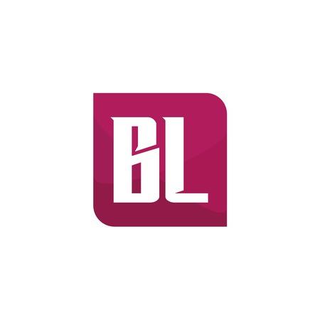 Initial Letter Logo BL Template Design Ilustração