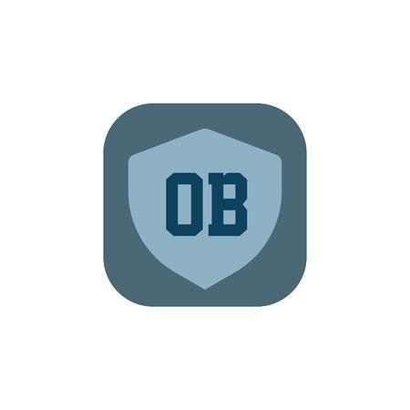 Initial Letter Logo OB Template Vector Design Çizim