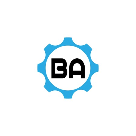 Initial Letter Logo BA Template Design