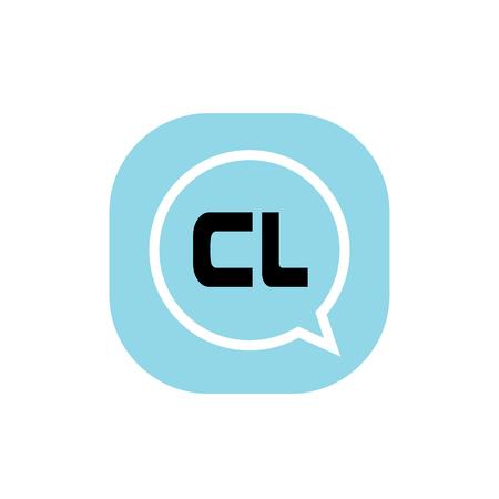 Initial Letter Logo CL Template Vector Design