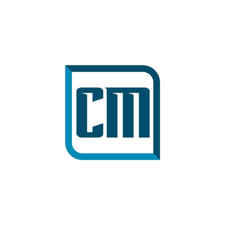 Initial Letter Logo CM Template Vector Design