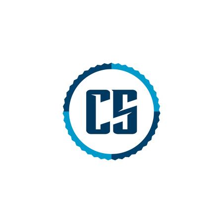 Initial Letter Logo CS Template Vector Design