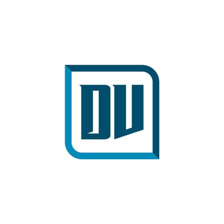 Initial Letter Logo DV Template Vector Design