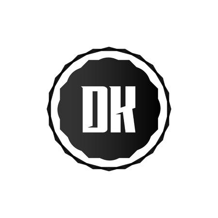 Initial Letter Logo DK Template Vector Design Logó