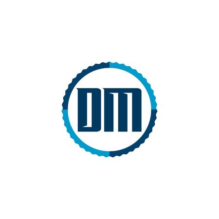 Initial Letter Logo DM Template Vector Design