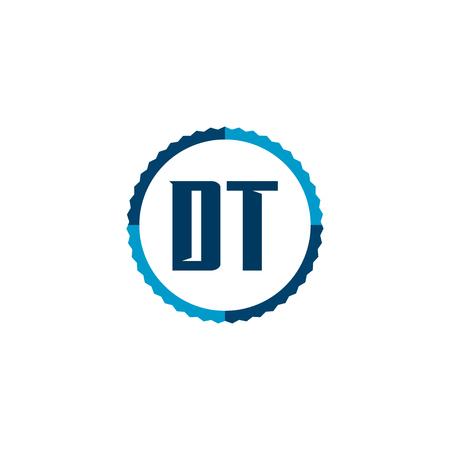 Initial Letter Logo DT Template Vector Design