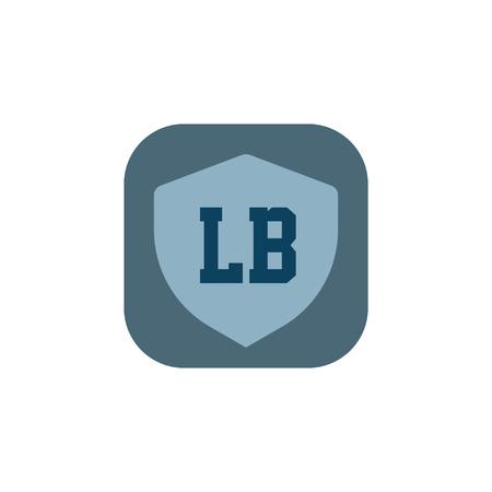 Initial Letter Logo LB Template Vector Design