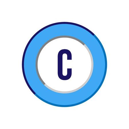 Początkowa litera C Logo szablon wektor wzór Logo