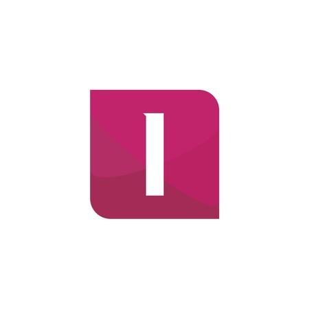 Initial Letter Logo I Template Vector Design