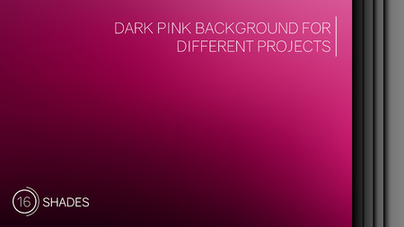 Elegant dark pink gradient background consisting of 16 shades - vector Illustration