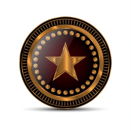 Zdobywca złotego medalu. Ilustracja wektorowa - wektor