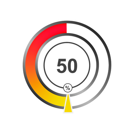Color indicator from percentage. Vector Illustration.