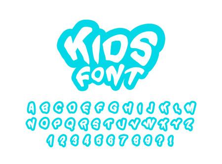 Modern children's font for prints. Vector Illustration Vettoriali