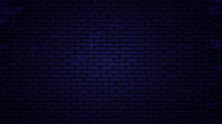 Fondo de pared de ladrillo de noche de vector. Ilustración vectorial