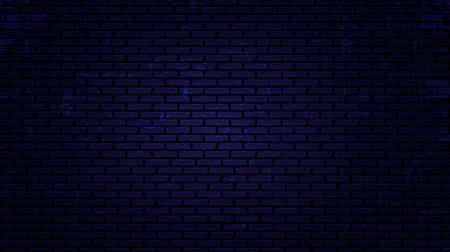 Vector nacht bakstenen muur achtergrond. vector illustratie